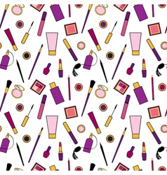 Beauty and care cosmetics purple and pink white vector