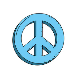 Beauty hippie emblem symbol design vector