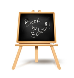 black blackboard back to school vector image vector image