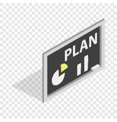 board with plan isometric icon vector image vector image