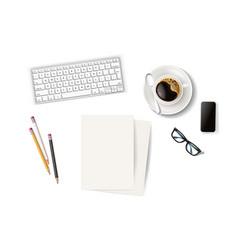 Business coffee break smartphone vector
