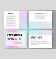Business templates for presentation slides vector