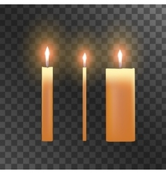 Candles on transparent background vector