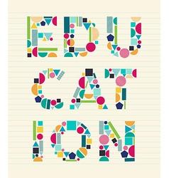 Creative education concept font vector