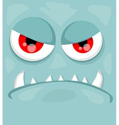 Cute monster face vector