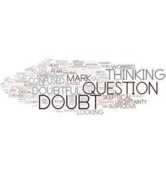Doubt word cloud concept vector