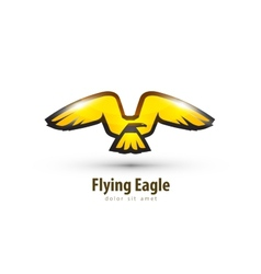 eagle logo design template bird or animal icon vector image vector image