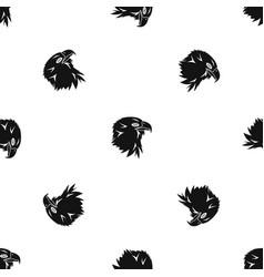 eagle pattern seamless black vector image vector image