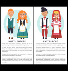 East north europe costumes european nationalities vector