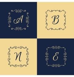 elegant monogram logo Trendy thin letter vector image vector image