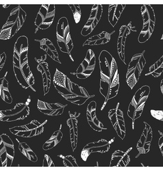 feather background retro pattern vector image vector image