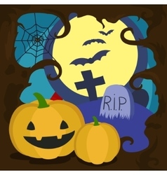 Halloween cartoon card vector