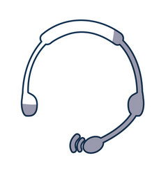 headset device isolated icon vector image
