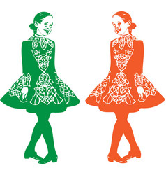 irish step dancer vector image