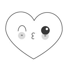 Kawaii heart icon vector