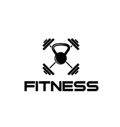 Kettlebell and barbell fitness vector