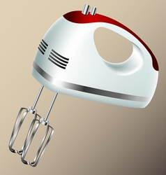 Kitchen hand mixer vector image vector image