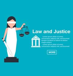 Lady justice or iustitia in flat stile vector
