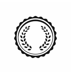 Medal with laurel wreath icon simple style vector