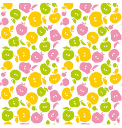 Naive apple fruit seamless pattern for fabric vector