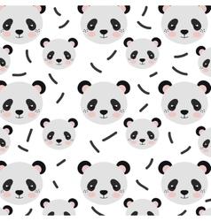 panda bear background vector image