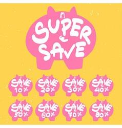 Piggy bank save banner vector