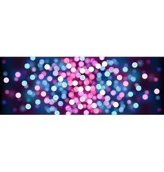 Purple festive lights vector image vector image