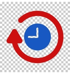 Repeat clock icon vector