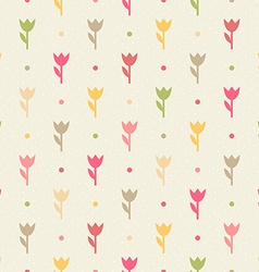 Retro seamless flower pattern vector image
