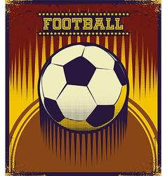 Soccer poster design vector image vector image
