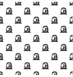 Space helmet pattern vector