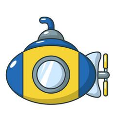 submarine icon cartoon style vector image vector image