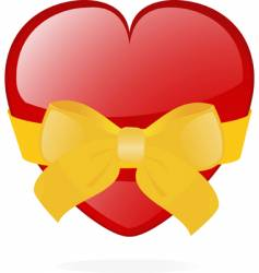 Valentine heart gift vector