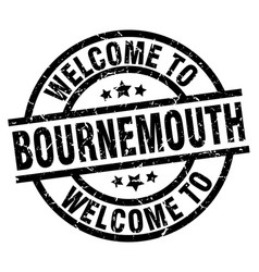 Welcome to bournemouth black stamp vector