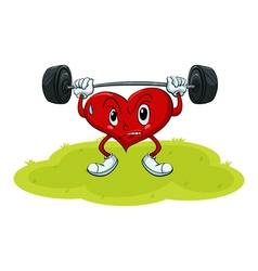Heart exercise vector image