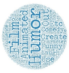 Common strategies of animated comedy text vector