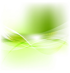 Green abstract smooth blurred waves background vector