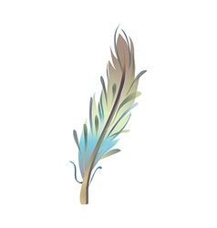 Icon feather vector