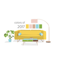 Interior design colors of the year vector