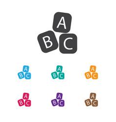 Of child symbol on abc bloks vector