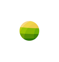 Vegan food green field with yellow sun vegetarian vector