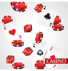 Cards chips casino poker vector