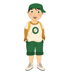 Boy wear hat vector
