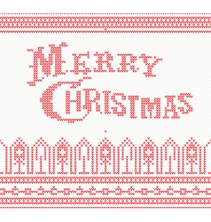 Merry christmas scandinavian text vector