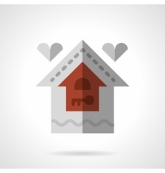 Family house flat color icon vector