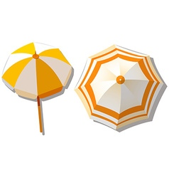 Umbrella from top view vector