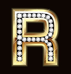 r bling vector image