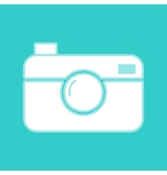 Digital photo camera icon vector