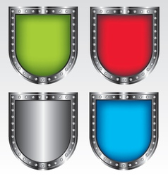 Shields set icon vector image