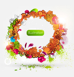 Abstract summer frame vector